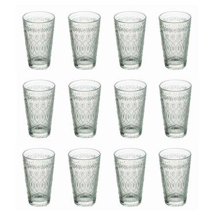 12 gota pije në gotë transparente të zbukuruar për pije - marokobike