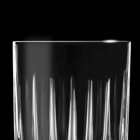 12 gota likeri në eko kristal me dekorime lineare të dizajnit - Senzatempo