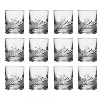 12 gota uiski me kristal të ulët me modë të vjetër - Advent