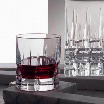 12 gota uiski me rrota të modës së vjetër basso në kristal - Fiucco