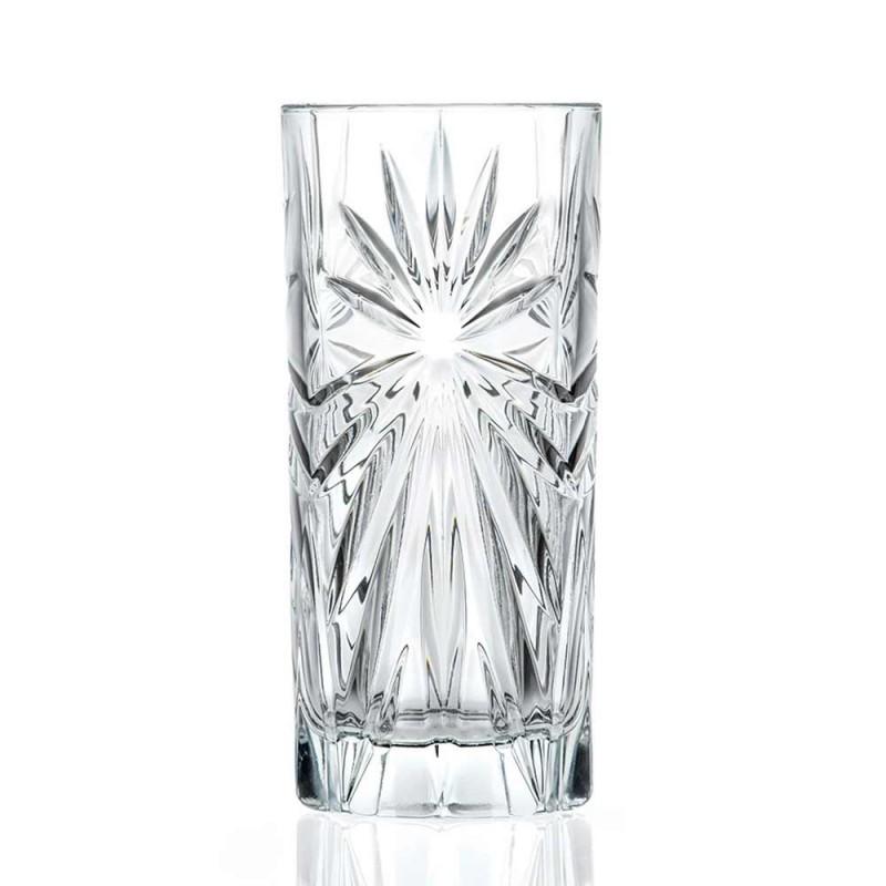 12 gota Highball Tumbler Tall Koktej në Dizajn Eco Crystal - Daniele