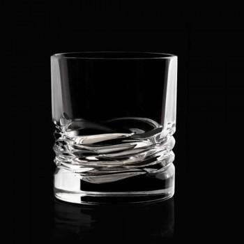 12 gota kristali dekor valë për uiski ose ujë me gumëzhitje dof - titan