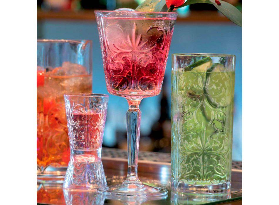 12 gota luksoze të zbukuruara Jigger në kristal ekologjik - Fati