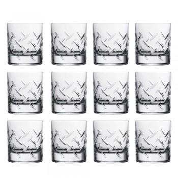 12 gota për uiski ose ujë në eko kristal me zbukurime moderne - aritmi