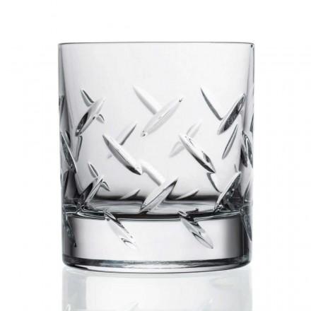 12 gota për uiski ose ujë në eko kristal me zbukurime të çmuara - aritmi