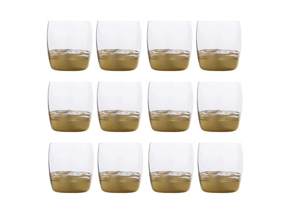 12 gota me gumëzhitje të ulët për ujë me ar, platin ose fletë bronzi - Soffio