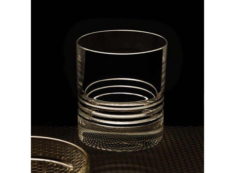 12 Tumbler Double gota të modës së vjetër kristal uiski - aritmi