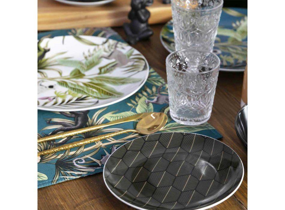 12 gota gumëzhitëse për ujë në gotë transparente të zbukuruar - marokobike