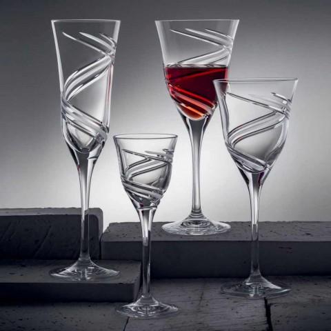 12 gota verë të kuqe në lukso pa plumb kristal ekologjik - ciklon