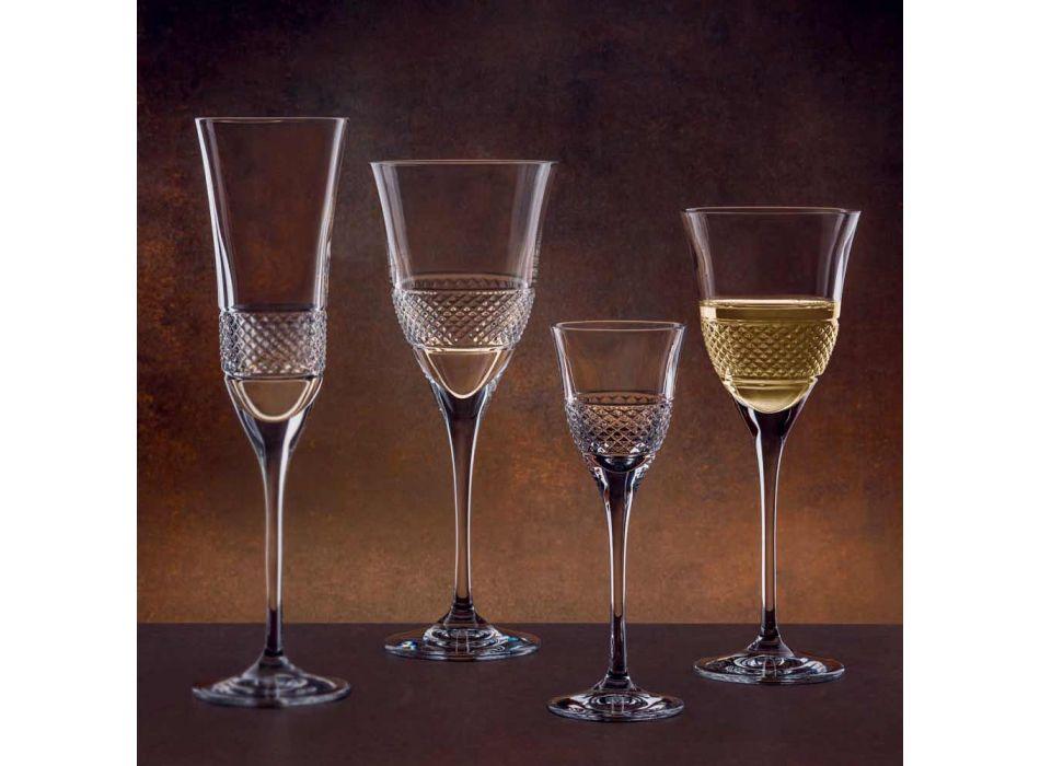 12 gota të verës së kuqe në dizajn elegante të dekoruar me kristal Eco - Milito