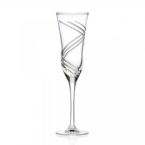 12 gota flaute shampanjë në kristal ekologjik të zbukuruar inovativ - ciklon