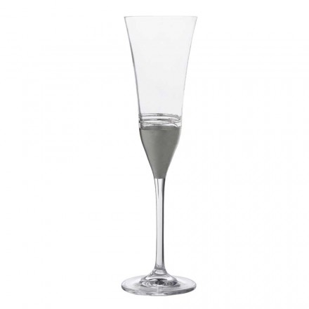 12 gota kristali flaut me fletë ari, bronzi ose platini, luksoze - Soffio