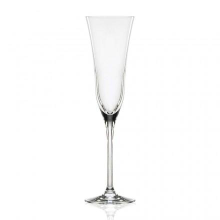 12 gota flaute në kristal luksoz ekologjik, dizajn minimal - i butë