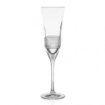 12 gota flaute shampanjë kristali ekologjike, të zbukuruara me dorë - Milito