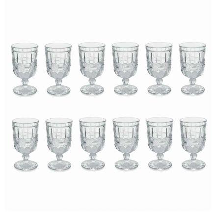 12 gota qelqi transparente dhe të dekoruara për tryezën e Krishtlindjes - Garbobic