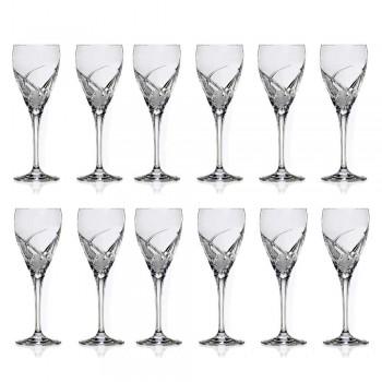 12 gota për verë të bardhë në dizajn luksoz kristal ekologjik - Montecristo