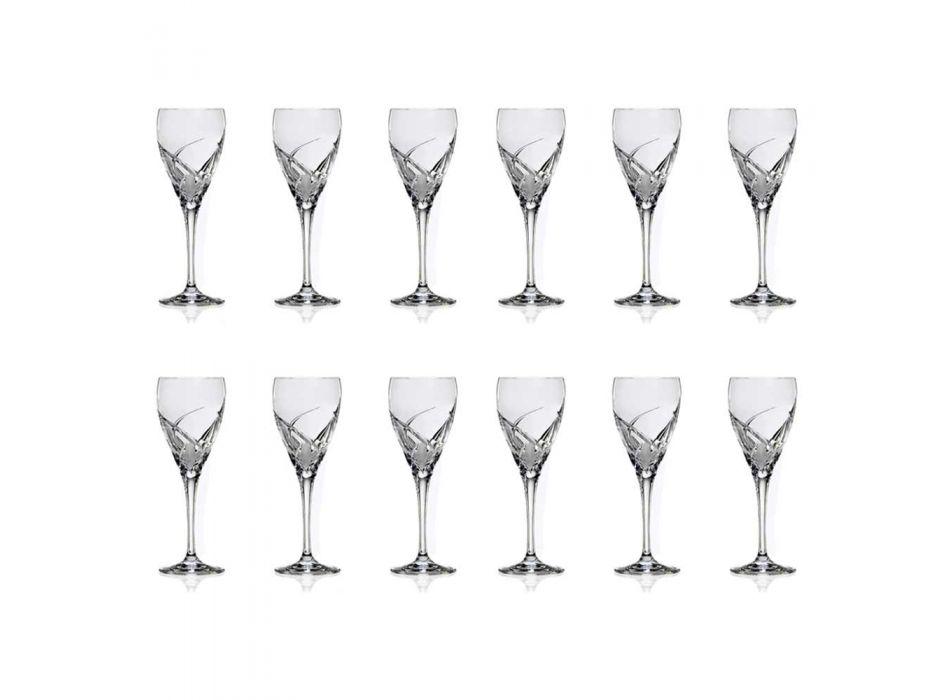 12 gota të verës së kuqe në dizajnin luksoz kristal ekologjik - Montecristo