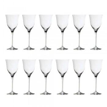 12 gota të verës së kuqe në dizajnin minimal luksoz të kristalit ekologjik - të butë