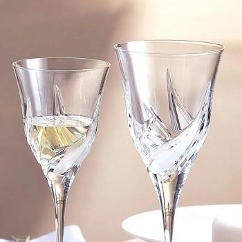 12 gota luksoze vere të bardhë në dekorimin e dorës Eco Crystal - Advent