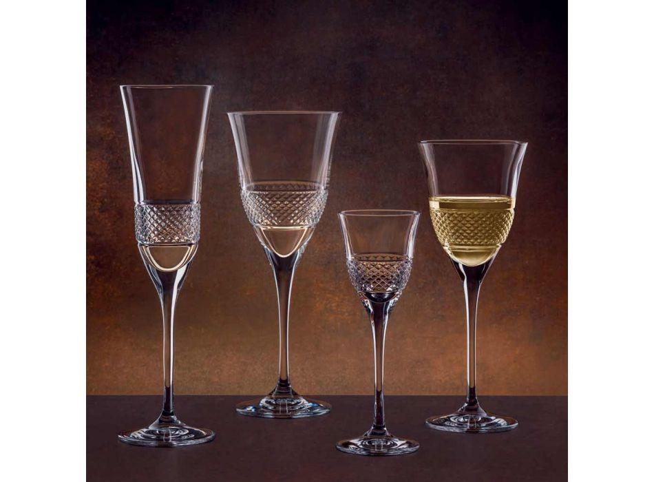 12 gota vere të bardha në dizajn luksoz të dekoruar me kristal ekologjik - Milito