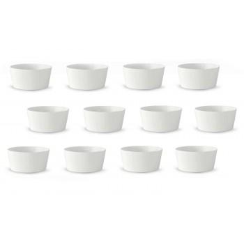 12 Krem akullore ose gota frutash prej porcelani të bardhë me dizajn modern - Egle