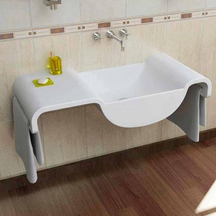 Lavamani i bardhë i montuar Onda, dizajn modern italian i bërë në Itali