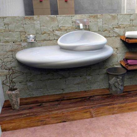Lavaman i montuar në mur, dizajn modern italian i bërë në Itali