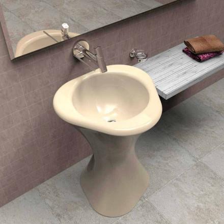 Lavamani me dizajn modern Twister, i punuar me dorë në Itali