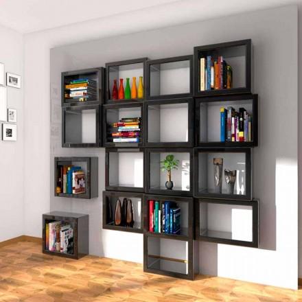 Rrobat e librave të montuara në mur me dizajn Fra011, të punuara në Itali