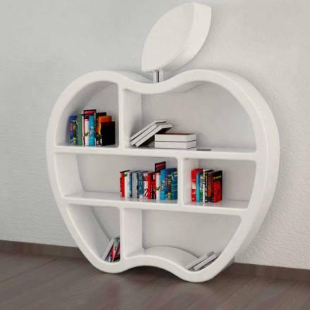 Raft i librave, i disponueshëm në të kuqe, të bardhë ose gri