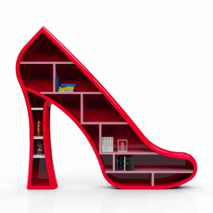 Dizajn modern, Librari me sipërfaqe të ngurta Zonjë, punuar me dorë në Itali