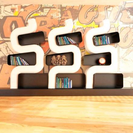 Dosje moderne Librari me sipërfaqe të ngurta Ser P, punuar me dorë në Itali
