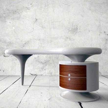 Tavolina zyre moderne e dizajnit Bean, e disponueshme në të bardhë, të kuqe ose të zezë