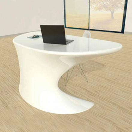 Tavolina moderne e zyrës Cobra, e disponueshme në të bardhë, blu ose gri