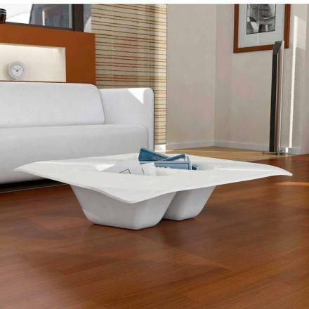 Dizajni bashkëkohor Tavolina e kafes Solid Surface Manta, e bërë në Itali