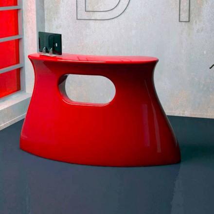 Tavolinë moderne e pritjes Solid Surface të projektimit Bob, i punuar me dorë në Itali