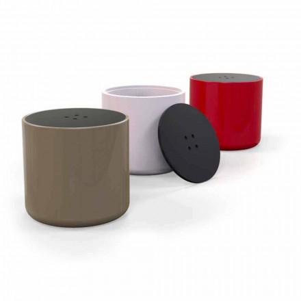 Tabela e kafesë / pouffe e butë e dizajnit modern Solid Surface, e bërë në Itali