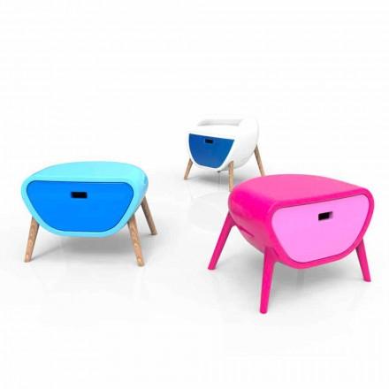 Dizajni modern Tavolina e shtratit të ngurtë Solid Surface, Little Gauche, e bërë në Itali