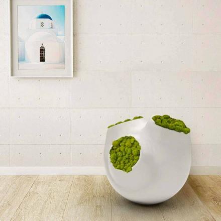 Vazë moderne e projektimit Luna, e disponueshme në të bardhë ose të zezë, e bërë në Itali