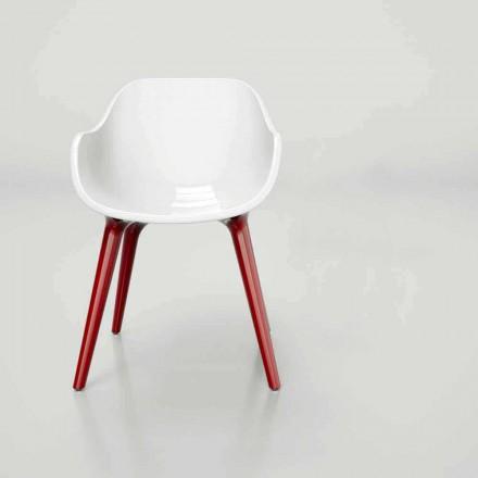 Karrige moderne Karrige me sipërfaqe të ngurtë Manù, stil skandinav i bërë në Itali