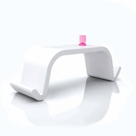 Tavolinë zyre e zyrave të ngurta Dizajn modern Acton në të bardhë, ari ose të zi