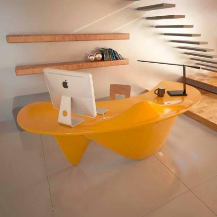 Tavolinë zyre për dizajn bashkëkohor Sinuous, e punuar me dorë në Itali