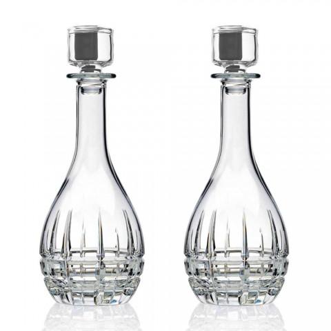 2 shishe me tapë vere me dizajn të rrumbullakët në kristal të zbukuruar - Fiucco
