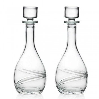 2 shishe vere dhe kapak eko kristal i zbukuruar me duar luksoze - Ciklon