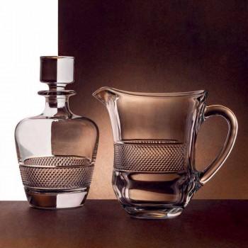 2 shishe uiski të zbukuruara në dizajn elegant elegante të kristalit ekologjik - Milito
