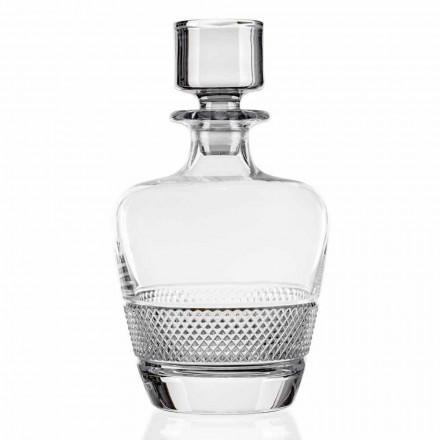 2 shishe uiski të zbukuruara në kristal ekologjik prodhuar në Itali - Milito