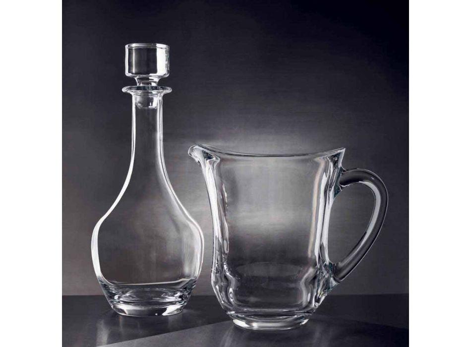 2 shishe për verërat në kristal ekologjik Dizajni minimal italian - I butë