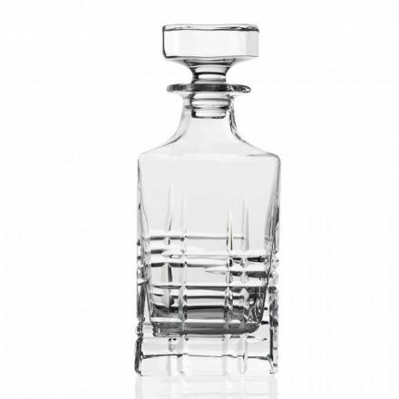 2 shishe uiski me kapak katror të dekoruar me kristal - Aritmi