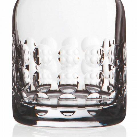 2 shishe për uiski në kristal ekologjik të zbukuruar me kapak - titanioball