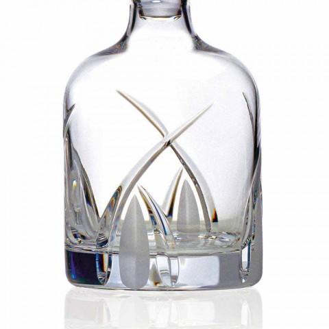 2 shishe uiski me kapak dizenjimi cilindrik në Eco Crystal - Montecristo